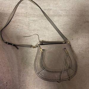 Rebecca Minkoff Gray Saddle Bag Purse